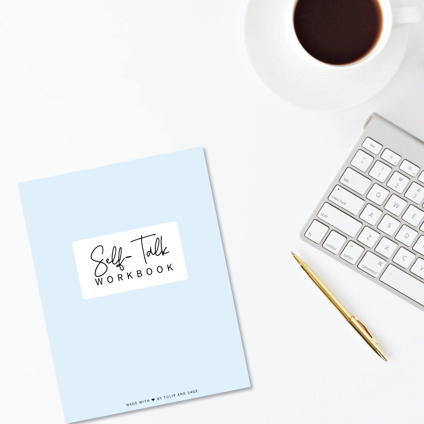 Self-Talk Workbook Digital Printable - Tulip and Sage