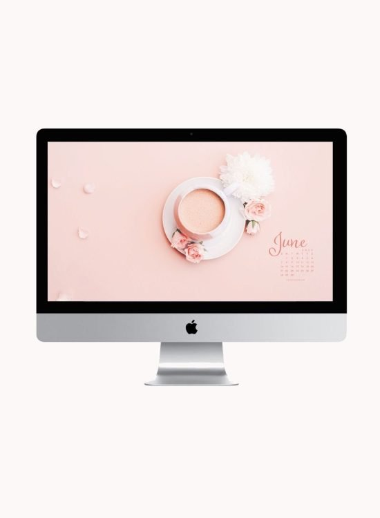 Are you looking to refresh your screens for next month? Grab our June 2020 Desktop Wallpaper! Did I mention it's a freebie?! #digitalwallpaper #desktopwallpaper #junewallpaper #freedownload #freebies