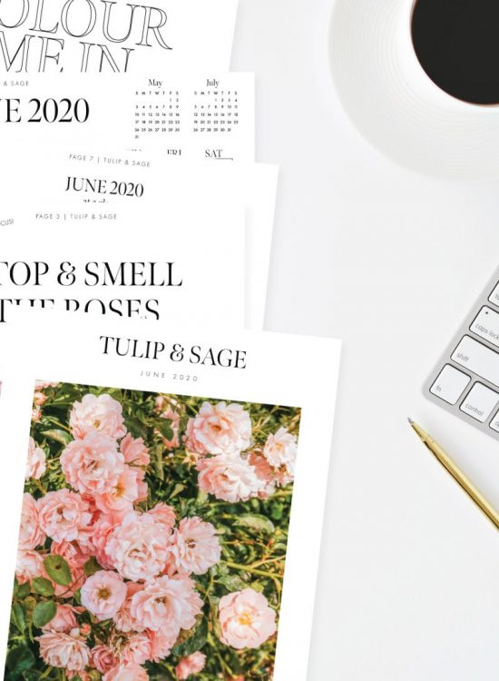 Get inspired to stop and smell the roses with our 29-page printable Self-Care & Lifestyle Journal, June 2020 Edition! Tech Wallpapers Included! #printablejournal #printableplanner #monthlyplannerprintablejune2020 #techwallpaper