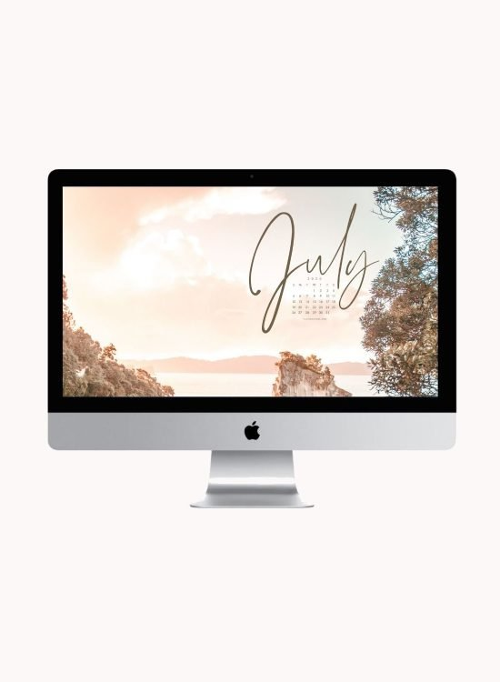 Are you looking to refresh your screens for next month? Grab our July 2020 Desktop Wallpaper! Did I mention it's a freebie?! #digitalwallpaper #desktopwallpaper #julywallpaper #freedownload #freebies