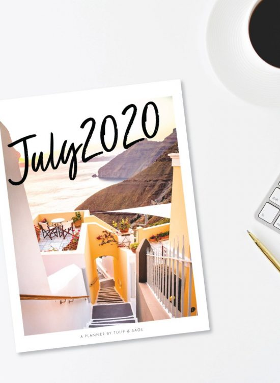 Our July 2020 Printable Planner is here! Celebrate sweet + simple holidays throughout the month, complete our fun monthly challenges, and get a little self-care task each day. Grab your July 2020 Printable Planner today to start celebrating YOU and life's simple joys! #tulipandsage #july2020planner #july2020plannerprintable #monthlyplannerjuly2020