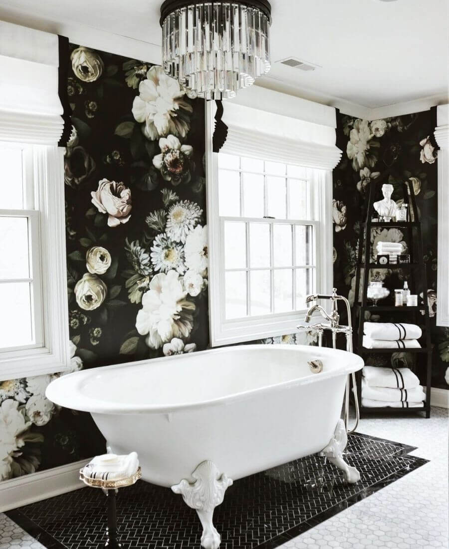 We're currently coveting floral wallpaper!  Are you?  These pretty prints can really transform a room.  Here are some of our favourite spaces! #floralwallpaper #flowerwallpaper #wallpaperdecor #wallpaperdecorideas