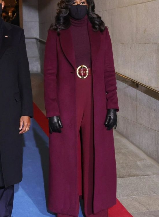 source: people.com/ Ready for some outfit inspiration? Today, we're featuring Michelle Obama's iconic plum outfit! Plus, find other ways to style a long burgundy coat! #outfitideas #outfitinspirations #getthelookoutfits #getthelookoutfitsinspiration