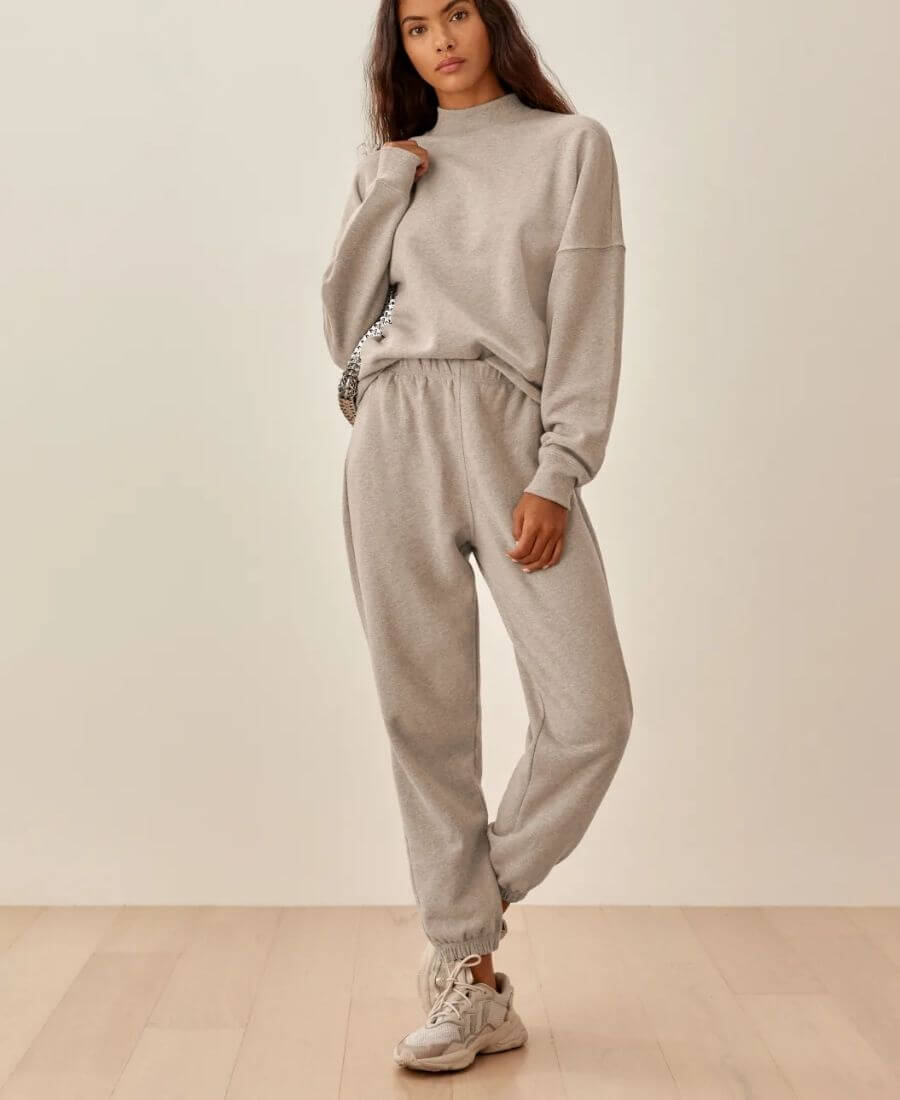 Here are some eco-friendly sweats you'll love! These cozy finds are made with eco-friendly fabrics such as organic cotton, recycled polyester, or tencel. #ecofriendlysweats #ecofriendlysweatshirt #ecofriendlysweatpants #sustainablesweats