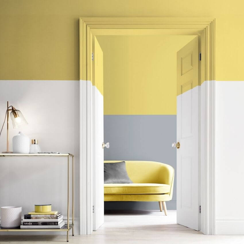 source: grahambrown.com/ On this week's Monday Muse, we're celebrating Pantone's 2021 colour of the year - Ultimate Gray and Illuminating!  Find interior inspo & decorating faves! #pantone2021 #pantone2021colortrendsinterior #pantonecolors #yellowandgreyinterior #tulipandsage