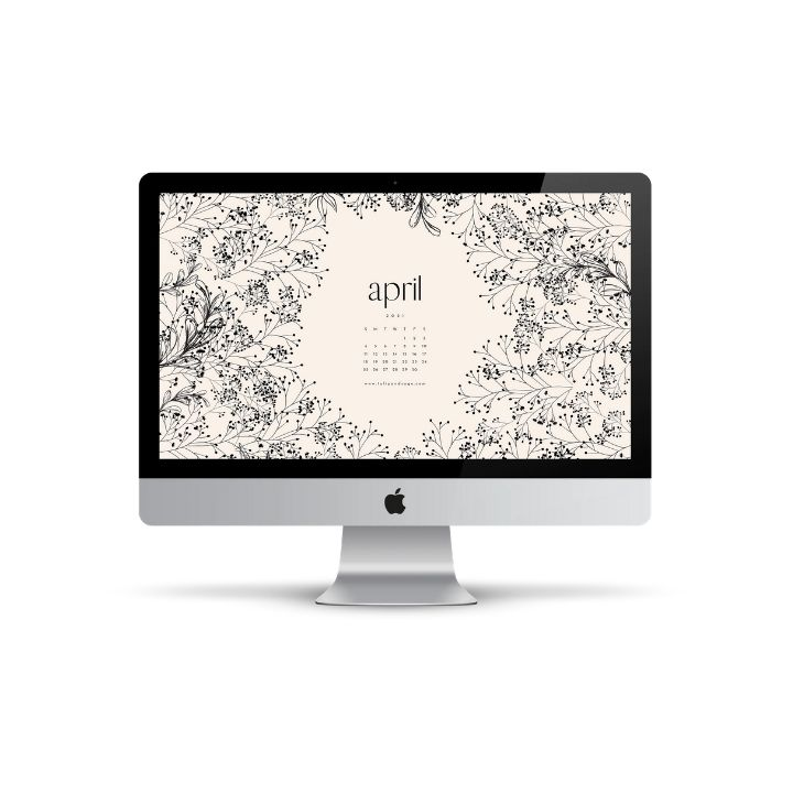 Hello April! Are you looking to refresh your screens this month? Grab our April Desktop Wallpaper! Did I mention it's a freebie?! #digitalwallpaper #desktopwallpaper #aprilwallpaper #freedownload #freebies