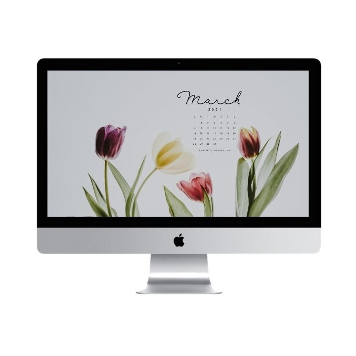 Hello March! Are you looking to refresh your screens this month? Grab our March Desktop Wallpaper! Did I mention it's a freebie?! #digitalwallpaper #desktopwallpaper #marchwallpaper #freedownload #freebies