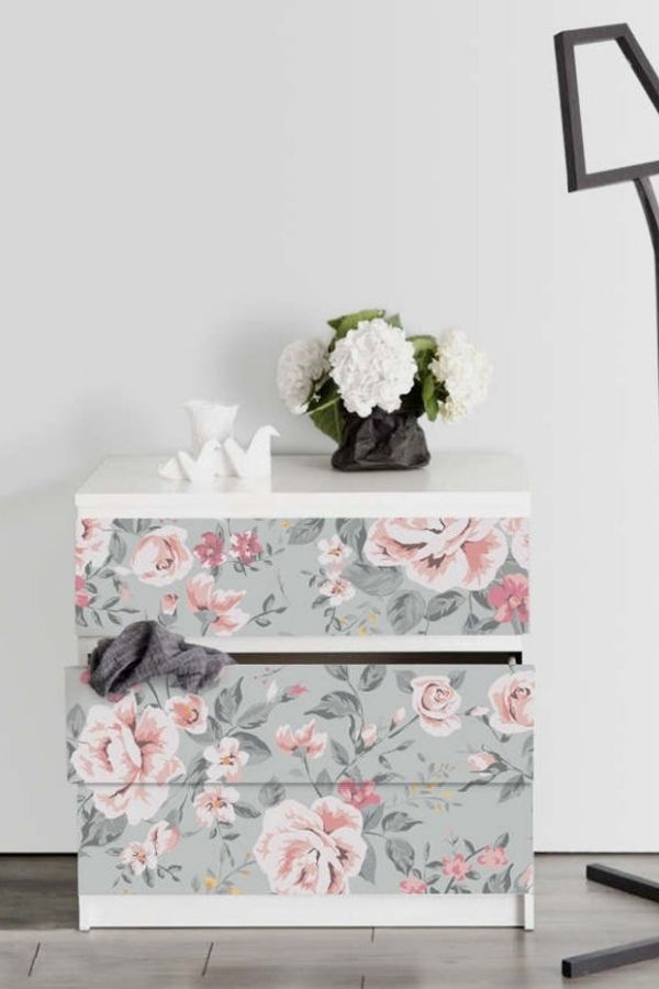source - StickersColoray/ Who else is obsessed with IKEA dresser hacks?! Looking for ways to refresh your IKEA dresser or chest of drawers? Here are my absolute favourite hacks! #ikeahacks #ikeahackideas #ikeadresserhack #ikeadressermakeover #ikeachestofdrawershack #tulipandsage