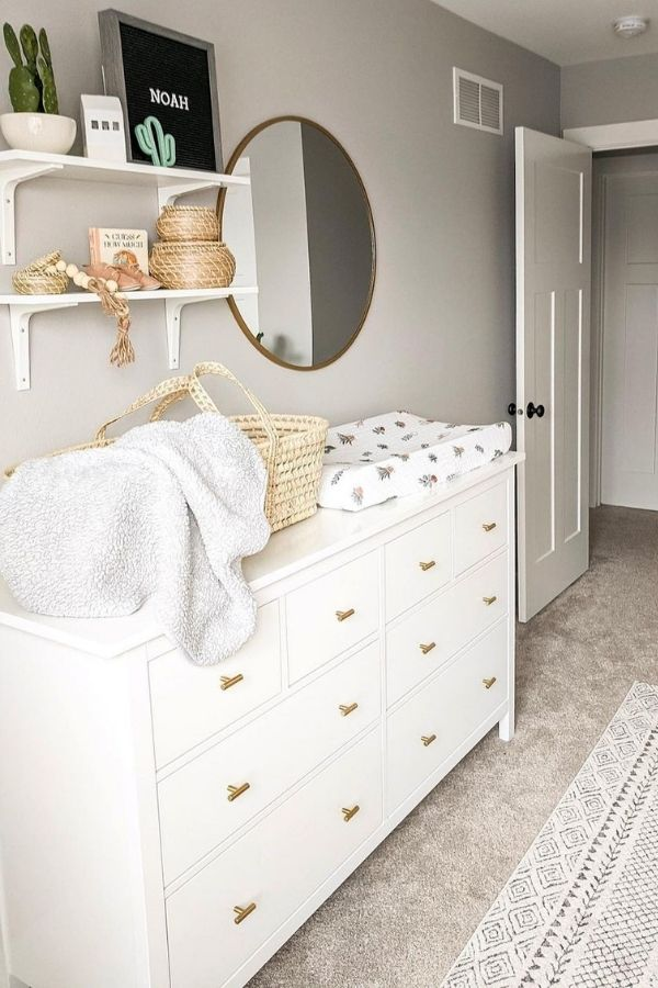 source - diariesofmyhome/ Who else is obsessed with IKEA dresser hacks?! Looking for ways to refresh your IKEA dresser or chest of drawers? Here are my absolute favourite hacks! #ikeahacks #ikeahackideas #ikeadresserhack #ikeadressermakeover #ikeachestofdrawershack #tulipandsage