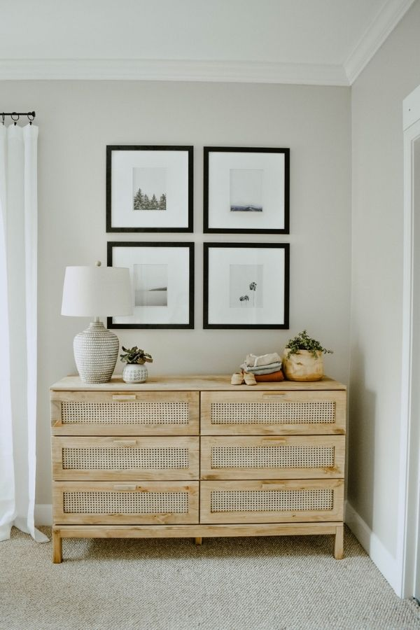source - houseonlongwoodlane.com/ Who else is obsessed with IKEA dresser hacks?! Looking for ways to refresh your IKEA dresser or chest of drawers? Here are my absolute favourite hacks! #ikeahacks #ikeahackideas #ikeadresserhack #ikeadressermakeover #ikeachestofdrawershack #tulipandsage