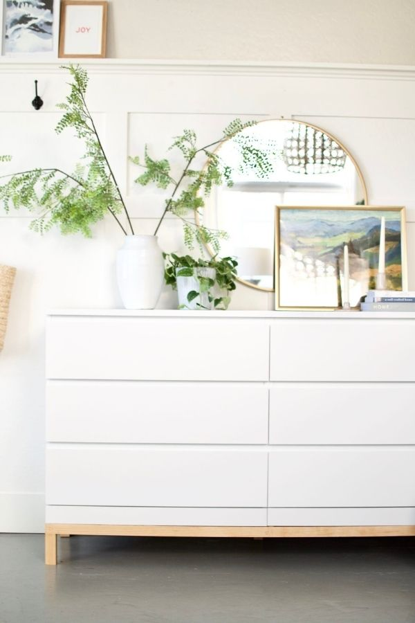 source - thecollectedhouse.com/ Who else is obsessed with IKEA dresser hacks?! Looking for ways to refresh your IKEA dresser or chest of drawers? Here are my absolute favourite hacks! #ikeahacks #ikeahackideas #ikeadresserhack #ikeadressermakeover #ikeachestofdrawershack #tulipandsage