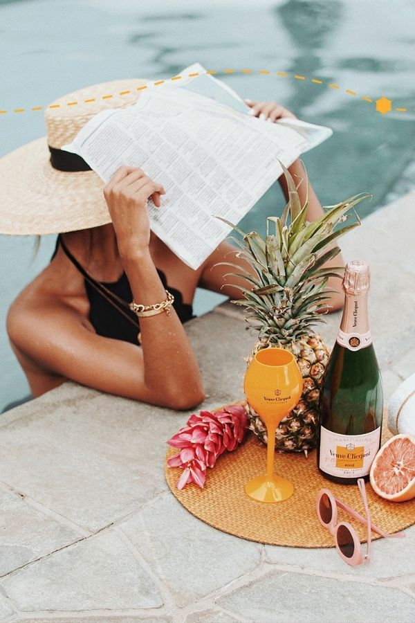 sourec - veuveclicquot.tumblr.com/ Who else is so looking forward to the summertime? Road-tripping, barbeques, patio dining - the list goes on! Browse through for some serious summer vibes! #summervibes #summeraesthetic #summer #summerinspiration #summerideas #tulipandsage