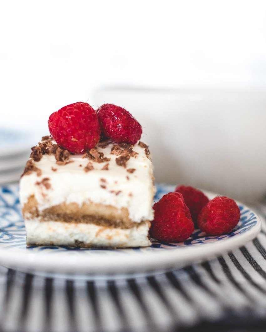 Here's an easy tiramisu recipe I know you'll love and will be making again and again.  It's my favourite way to enjoy this coffee-flavoured Italian dessert! #tiramisu #tiramisurecipe #tiramisucreamcheese #tiramisurecipeeasy #tulipandsage #coffeedesserts